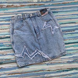 Star Studded Denim Skirt